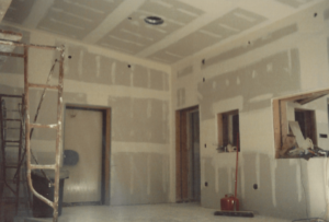 Early construction of the studio room