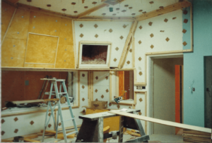 Later in the construction process of the control room